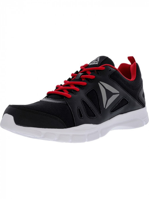 Reebok barbati Trainfusion Nine 2.0 Lmt Black / Excellent Red White Ankle-High Mesh Training Shoes foto mare