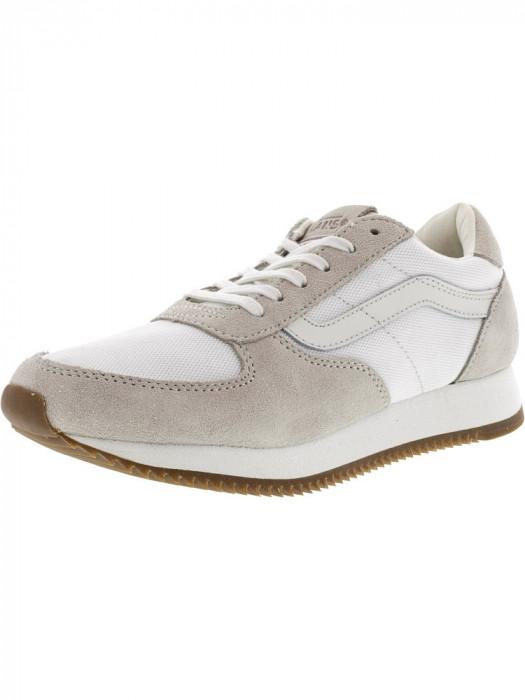 Vans Runner Blanc De Ankle-High Suede Running Shoe