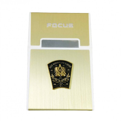Tabachera Cu Simboluri Masonice Cheia de Bolta FOCUS MM626 foto