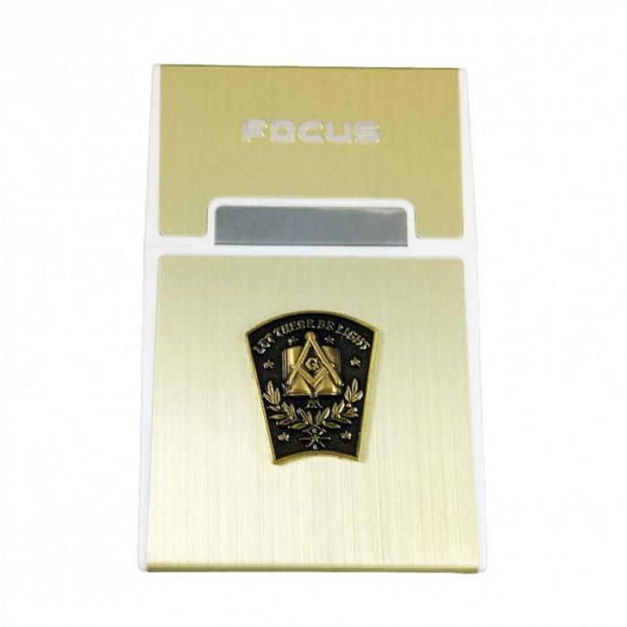 Tabachera Cu Simboluri Masonice Cheia de Bolta FOCUS MM626 foto mare