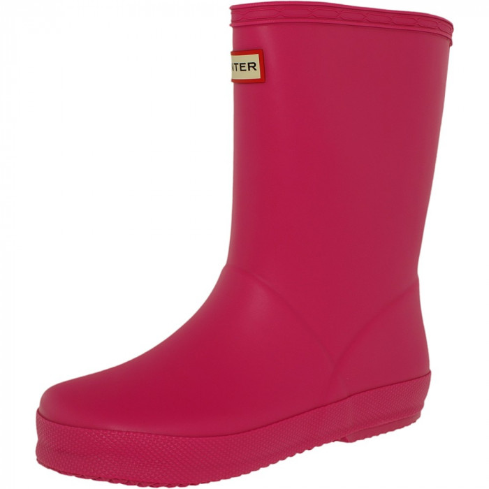 Hunter fete Kids First Classic Lipstick Mid-Calf Rubber Rain Boot