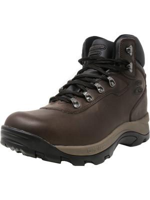 Hi-Tec barbati Altitude Iv Waterproof Dark Chocolate High-Top Leather Hiking Boot foto