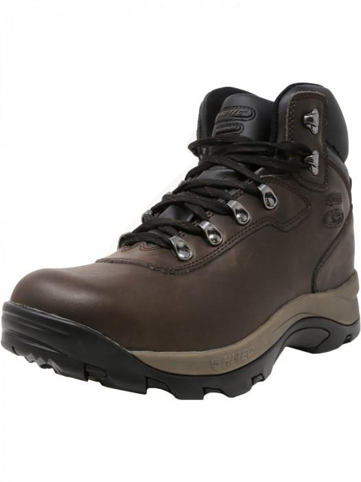 Hi-Tec barbati Altitude Iv Waterproof Dark Chocolate High-Top Leather Hiking Boot foto mare