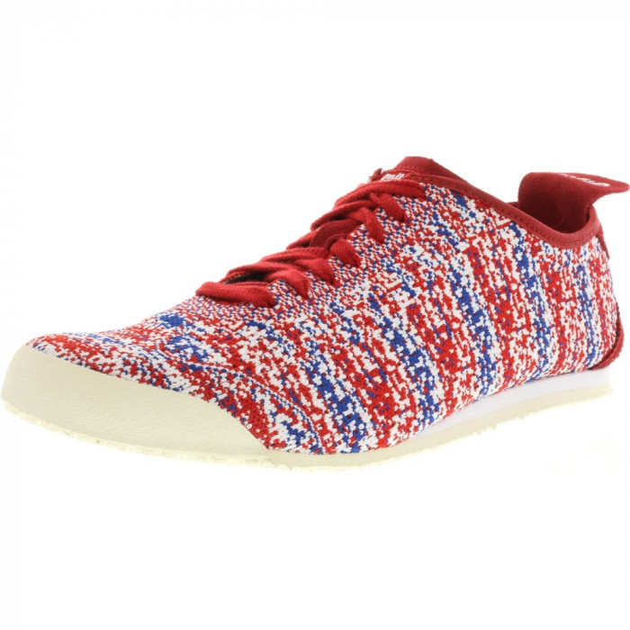 Onitsuka Tiger Mexico66 Knit True Red / Ankle-High Fabric Running Shoe foto mare