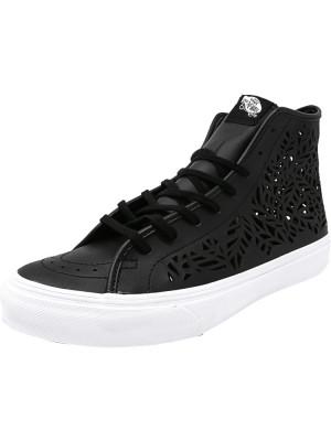Vans Sk8-Hi Decon Cut-Out Leaves / Black Mid-Top Leather Fashion Sneaker foto