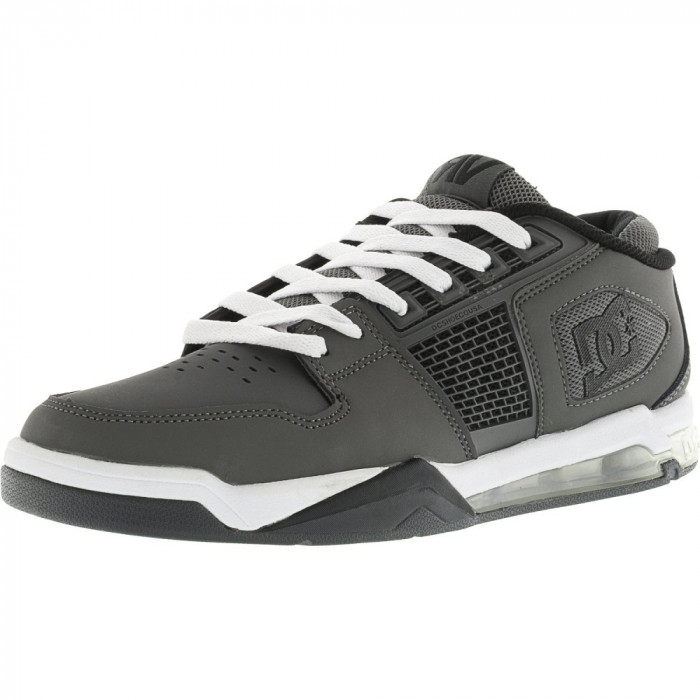 Dc barbati Ryan Villopoto Grey / White Ankle-High Skateboarding Shoe foto mare