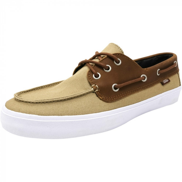 Vans barbati Chauffeur Sf C And L Khaki / Chambray Ankle-High Leather Flat Shoe foto mare