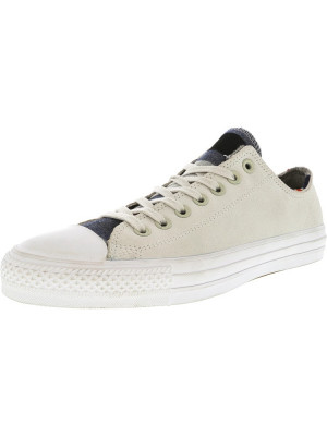 Converse Chuck Taylor All Star Pro Blanket Stripe Ox Buff / Casino White Ankle-High Leather Fashion Sneaker foto
