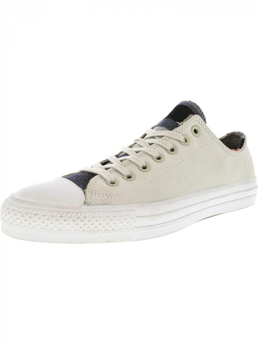 Converse Chuck Taylor All Star Pro Blanket Stripe Ox Buff / Casino White Ankle-High Leather Fashion Sneaker