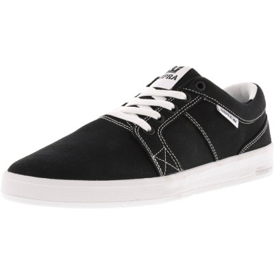 Supra barbati Ineto Black Canvas / White Stitching Ankle-High Fashion Sneaker foto