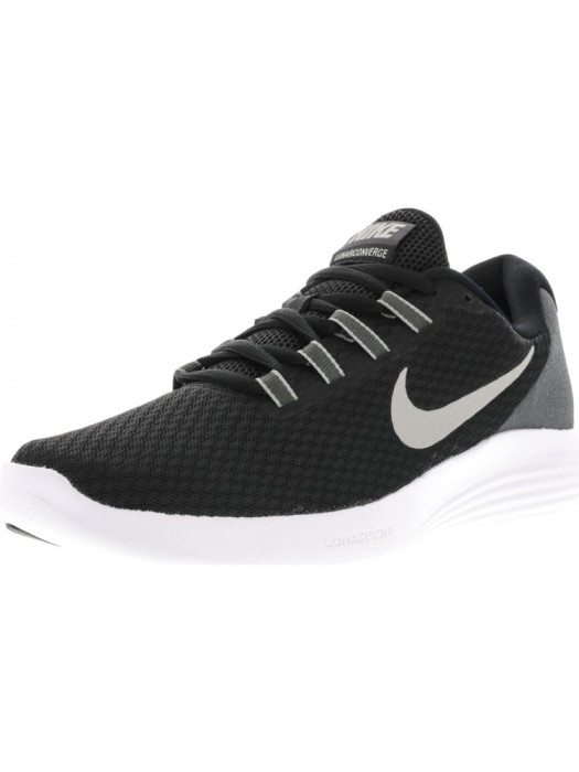 Nike barbati Lunarconverge Black / Matte Silver-Anthracite Ankle-High Running Shoe