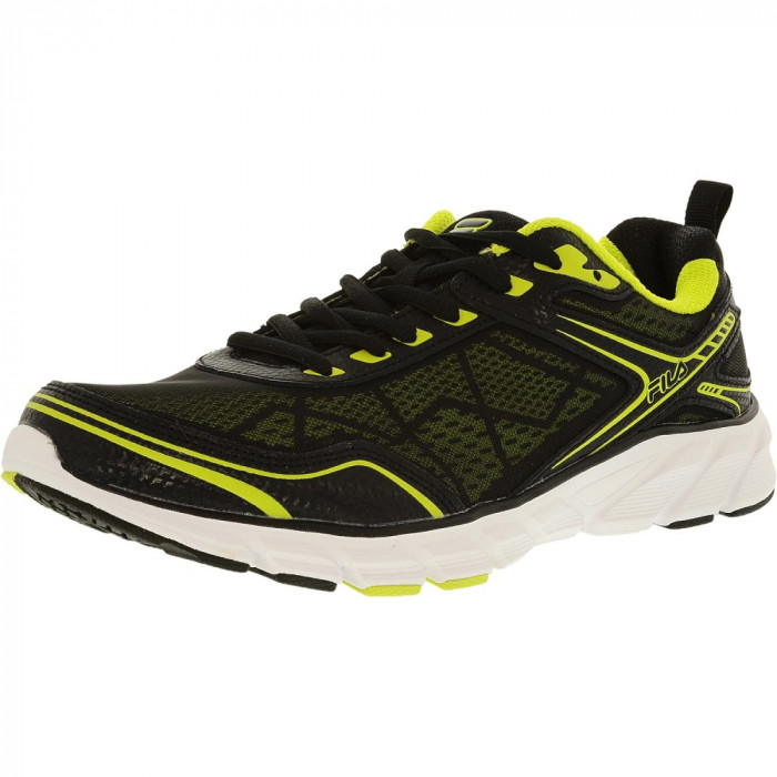 Fila barbati Memory Granted Lime Punch/Black/White Ankle-High Running Shoe foto mare