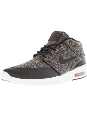 Nike barbati Stefan Janoski Max Mid Baroque Brown / Laser Crimson Sail Black Mid-Top Fashion Sneaker foto