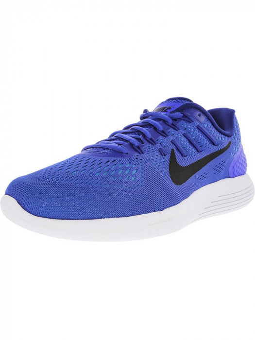 Nike barbati Lunarglide 8 Racer Blue / Black White Ankle-High Running Shoe foto mare