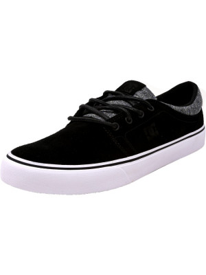 Dc barbati Trase Le Black / Armor Ankle-High Suede Skateboarding Shoe foto