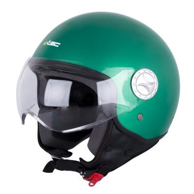 W-TEC Casca scuter FS-701G Retro Green foto