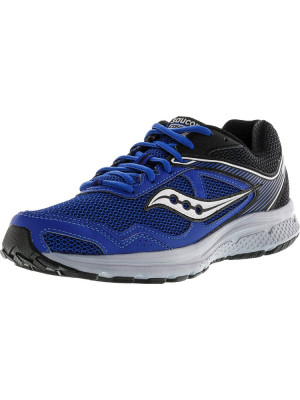 Saucony barbati Grid Cohesion 10 Royal / Black Ankle-High Running Shoe foto