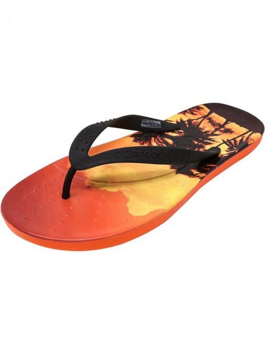 Crocs Chawaii Tropics Flip Tangerine Sandal foto mare