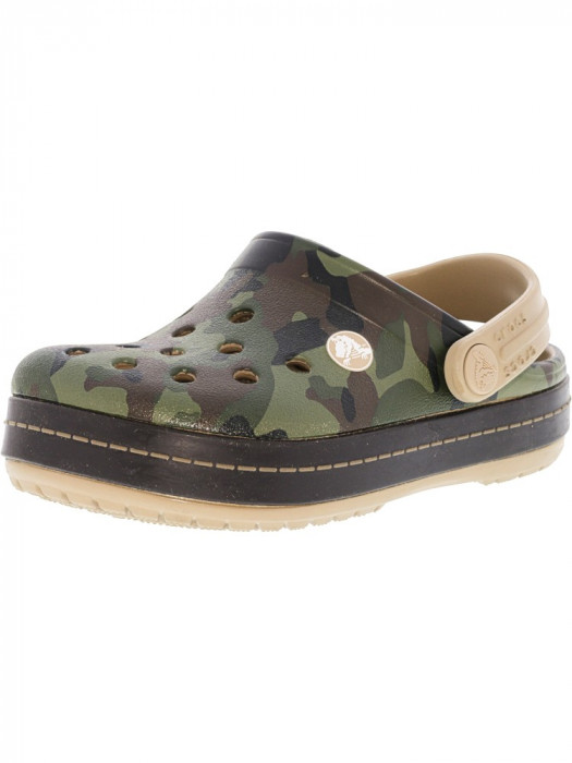 Crocs Crocband Graphic Clog Tumbleweed Ankle-High Clogs