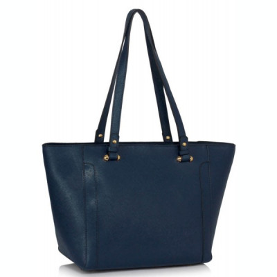 LS00497 - Navy Grab Shoulder Handbag foto