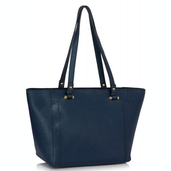 LS00497 - Navy Grab Shoulder Handbag