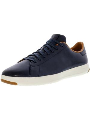 Cole Haan barbati Grandpro Tennis Blazer Blue Hand Stain Suede Shoe foto