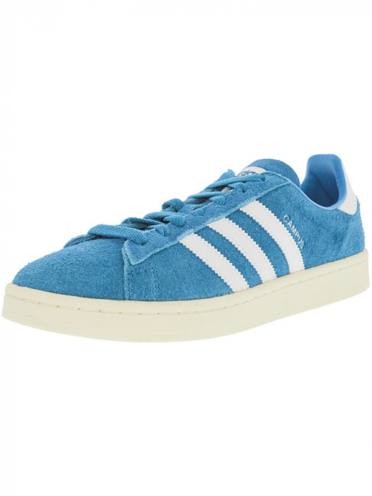 Adidas barbati Campus Stich And Turn Bold Aqua / Footwear White Ankle-High Leather Fashion Sneaker