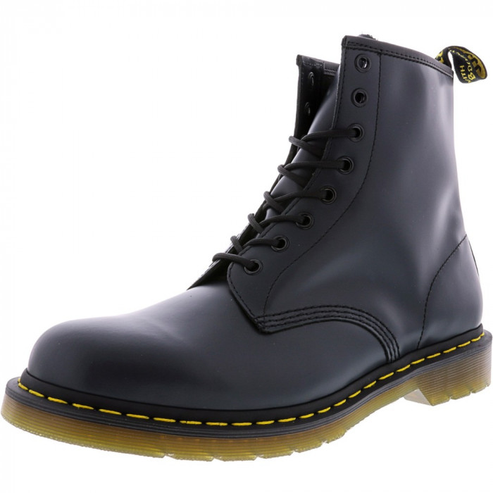 Dr. Martens barbati 10 8-Eye Smooth Navy Ankle-High Leather Boot foto mare