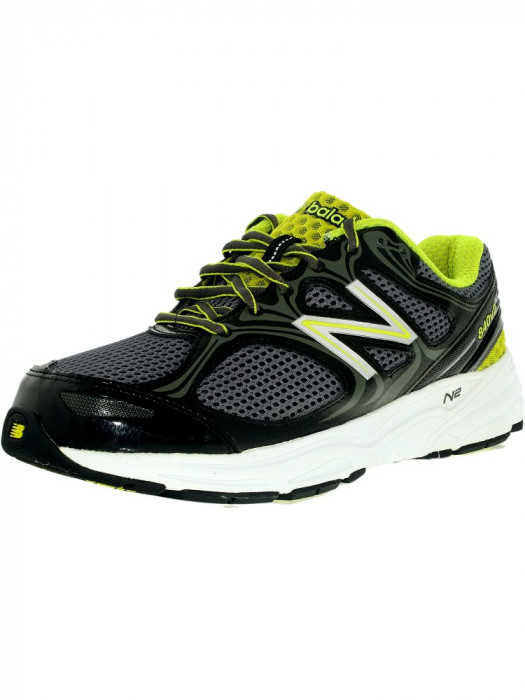 New Balance barbati Running Course Black/Silver/Electric Green Low Top Mesh Shoe foto mare