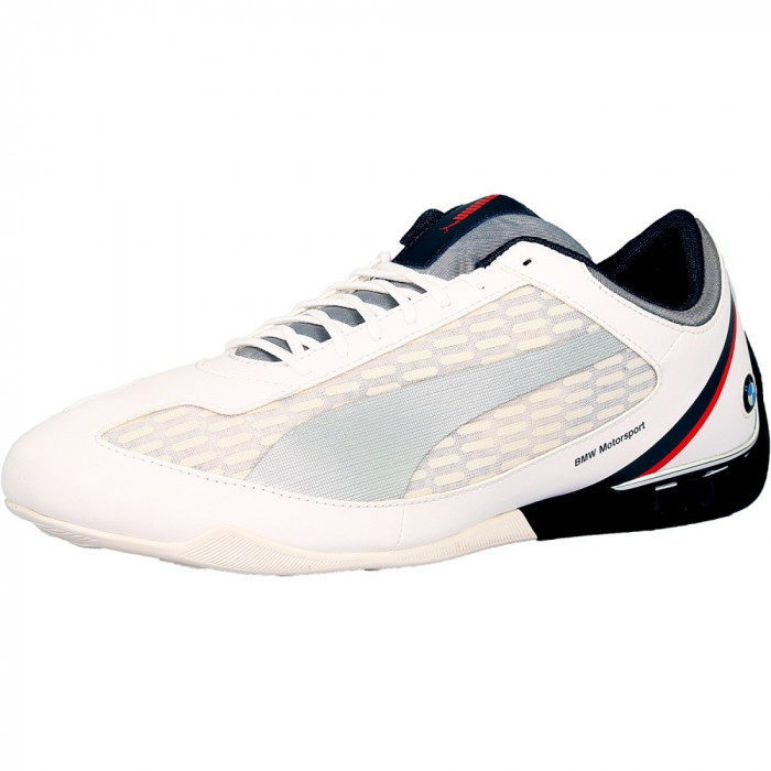 Puma barbati Power Race Bmw Motorsports White / Silver Team Blue Ankle-High Fashion Sneaker