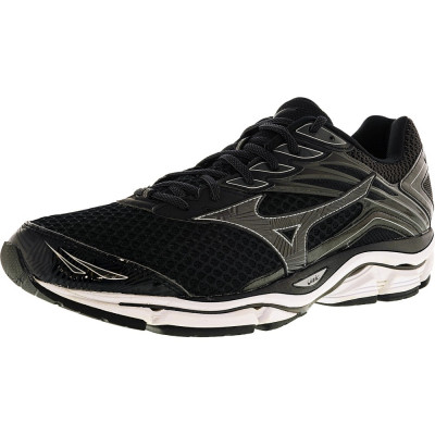 Mizuno barbati Wave Enigma 6 Black / Dark Grey Silver Ankle-High Running Shoe foto