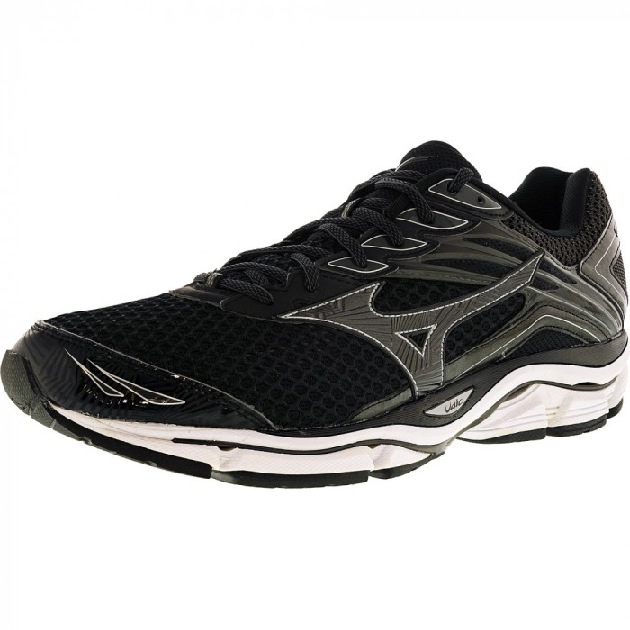 Mizuno barbati Wave Enigma 6 Black / Dark Grey Silver Ankle-High Running Shoe foto mare