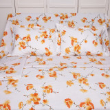Lenjerie de pat pentru 2 persoane BonDia, Model Ginger, 100% bumbac, 4 piese, Bumbac Ranforce