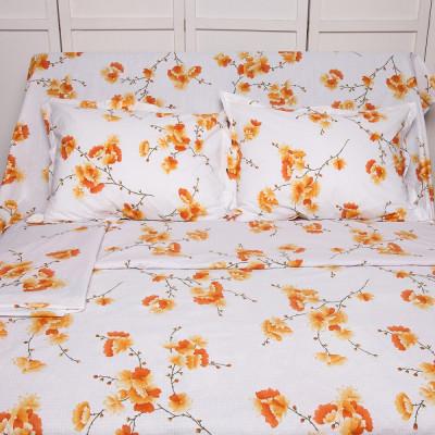 Lenjerie de pat pentru 2 persoane BonDia, Model Ginger, 100% bumbac, 4 piese foto