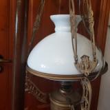 LAMPA CU GAZ DE TAVAN ADAPTATĂ ELECTRIC -AUSTRIA 1900 - SECESSION , JUGENDSTIL
