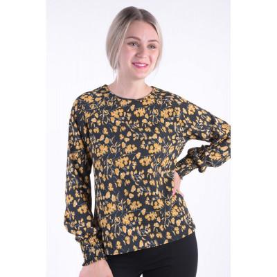 Bluza Vero Moda Vmbali Ls Smock Top Black / Flower foto