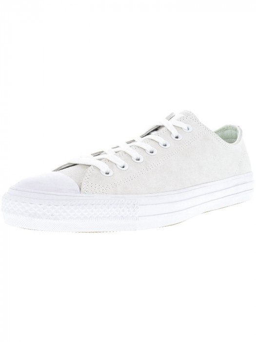 Converse Chuck Taylor All Star Pro Ox White / Teal Ankle-High Leather Fashion Sneaker foto mare