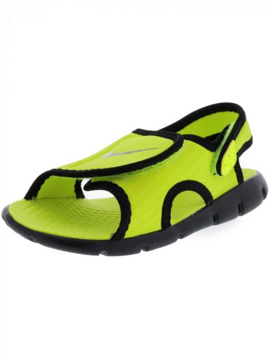 Nike Sunray Adjust Volt / Black Sandal foto mare