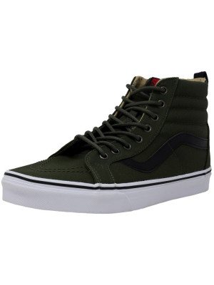 Vans barbati Sk8-Hi Reissue Military Twill Rifle Grey High-Top Canvas Skateboarding Shoe foto