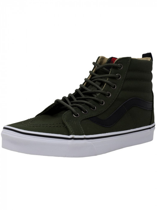 Vans barbati Sk8-Hi Reissue Military Twill Rifle Grey High-Top Canvas Skateboarding Shoe foto mare