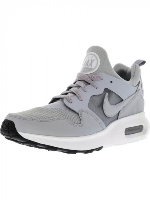 Nike barbati Air Max Prime Wolf Grey / Grey-White Ankle-High Running Shoe foto mare