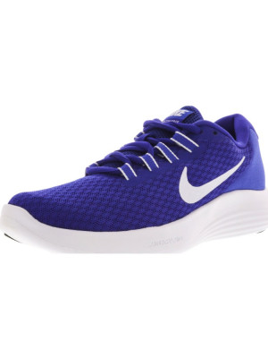 Nike barbati Lunarconverge Paramount Blue / White Ankle-High Running Shoe foto