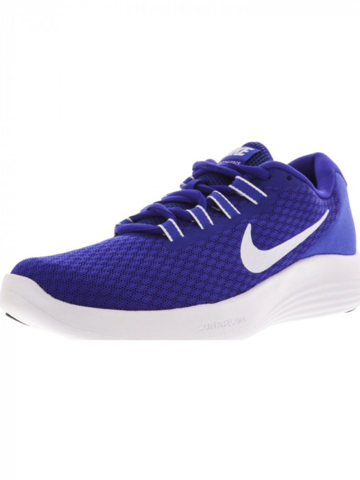 Nike barbati Lunarconverge Paramount Blue / White Ankle-High Running Shoe foto mare