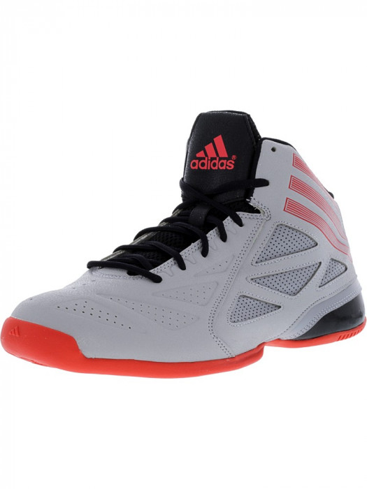 Adidas barbati Next Level Speed 2 Mid Grey / High Res Red Black High-Top Basketball Shoe foto mare