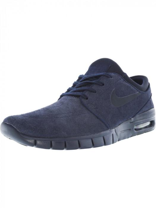 Nike barbati Stefan Janoski Max L Obsidian / Dark Ankle-High Fashion Sneaker foto mare