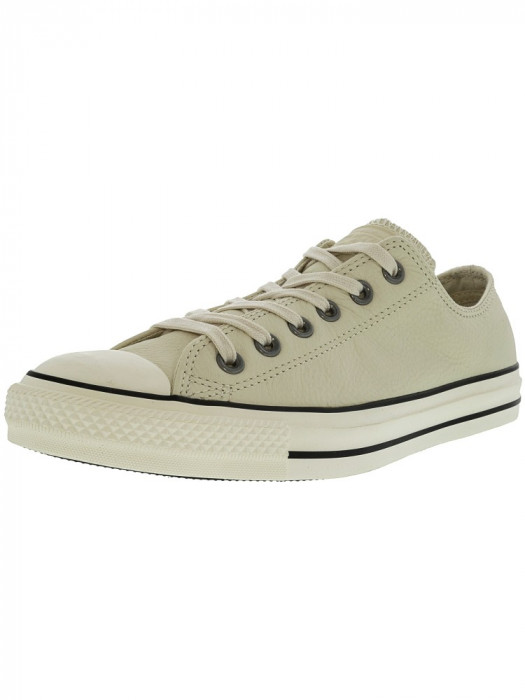 Converse Chuck Taylor All Star Ox Parchment / Blue Ankle-High Fashion Sneaker foto mare