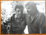 Fotografie originala Nichita Stanescu si Tomozei , anii 80