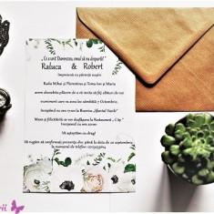 Invitatie pentru Nunta cu motive florale EM1250