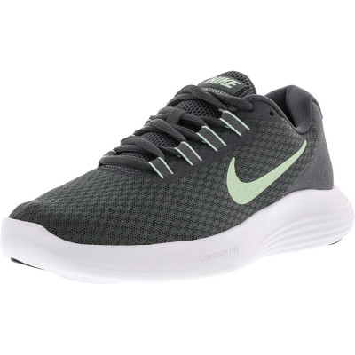 Nike barbati Lunarconverge Dark Grey / Fresh Mint-Cool Ankle-High Running Shoe foto