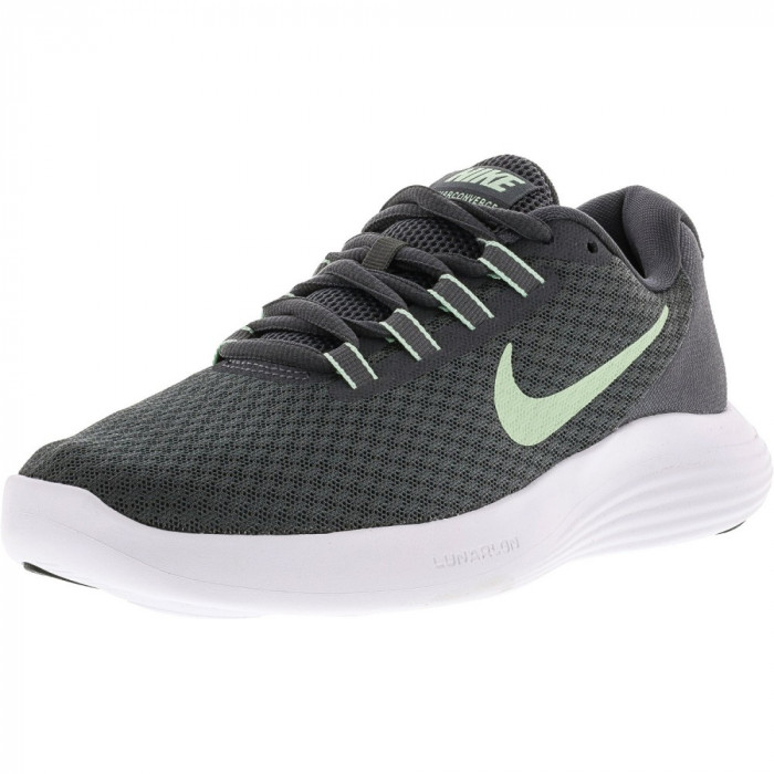 Nike barbati Lunarconverge Dark Grey / Fresh Mint-Cool Ankle-High Running Shoe